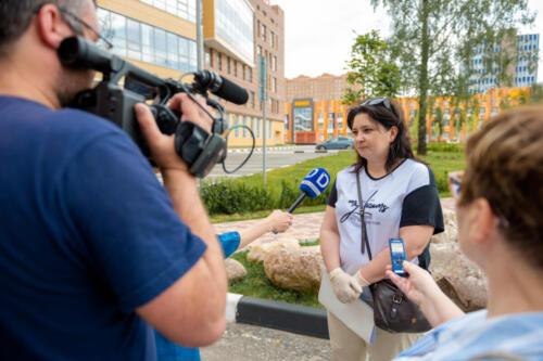 Министр здравоохранения Московской области Светлана Стригункова с визитом в МФТИ