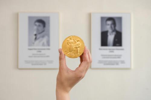Нобелевская медаль Андрея Гейма